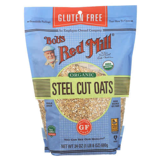 Bob'S Red Mill - Organic Steel Cut Oats - Gluten Free - Case Of 4-24 Oz-Eco-Friendly Home & Grocery-Bob's Red Mill-EpicWorldStore.com