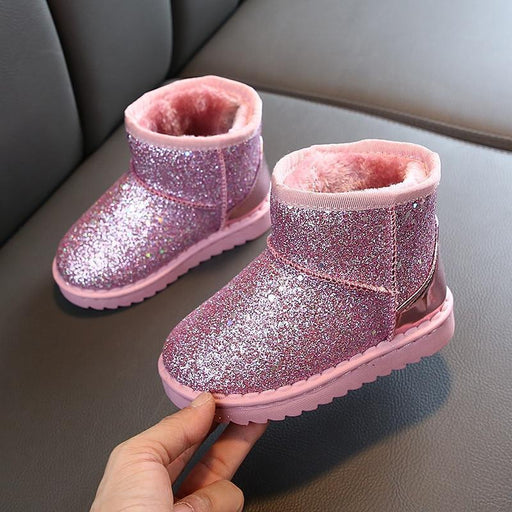 Boots Girls Winter Kids Baby Shoes Childrens Boys Vintage Warm Bling Waterproof Plush Snow-Boots-Luckin Monkey Store-Black-32-EpicWorldStore.com