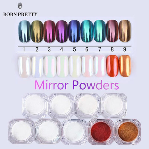 Born Pretty Mirror Nail Glitter Pigment Powder 1G Gold Blue Purple Dust Manicure Nail Art Glitter-Nails & Tools-Born Pretty Co.,Ltd.-Color 1-EpicWorldStore.com
