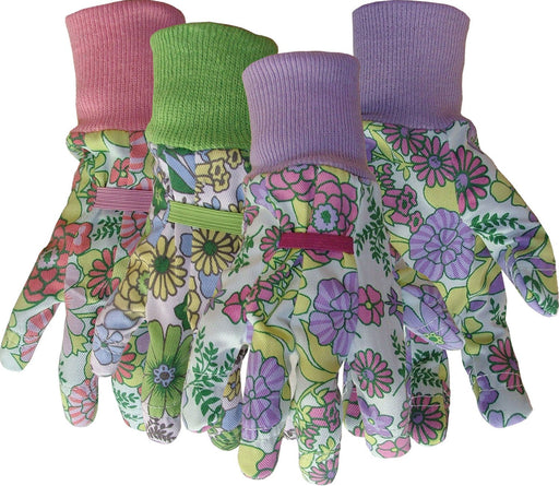 Boss Manufacturing P - Ladies Floral Cotton Glove With Knit Wrist (Case Of 12 )-Pet-Boss Manufacturing P-ASSORTED-ONE SIZE-EpicWorldStore.com
