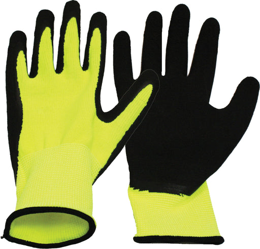 Boss Manufacturing P - V2 Flexigrip High-Vis Latex Palm Gloves For Men (Case Of 12 )-Pet-Boss Manufacturing P-BLACK/YELLOW-EXTRA LARGE-EpicWorldStore.com