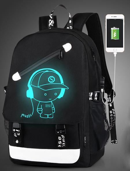 Boys School Charging Backpack Student Luminous Animation Usb Charge Changeover Joint-Kids & Baby's Bags-Hey! Bag Store-style1-EpicWorldStore.com