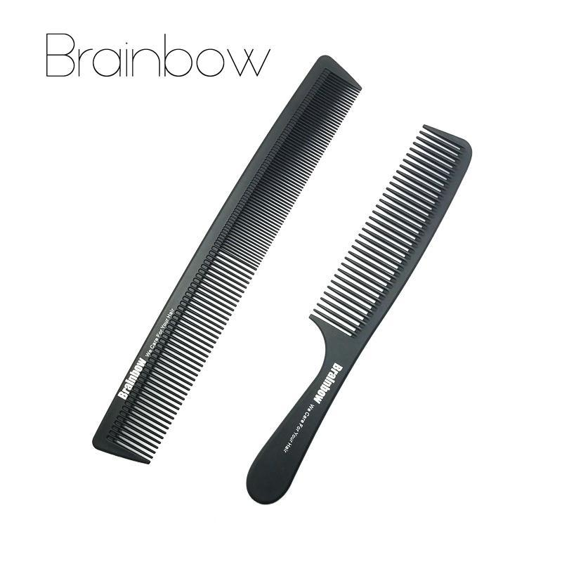 Brainbow 2Pc Hair Combs Anti-Static Carbon Hair Brushes Pro Salon Hair Styling Tools Hairdressing-Hair Care & Styling-Brainbow Official Store-EpicWorldStore.com