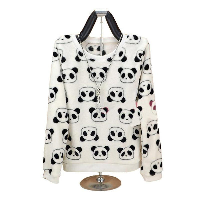 Brand Harajuku Cute Panda Harajuku Hoody Sweatshirt For Women Spring Winter High-Hoodies & Sweatshirts-Shop2822087 Store-zf01-S-EpicWorldStore.com