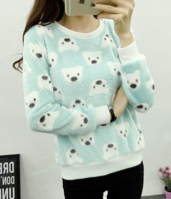 Brand Harajuku Cute Panda Harajuku Hoody Sweatshirt For Women Spring Winter High-Hoodies & Sweatshirts-Shop2822087 Store-zf02-S-EpicWorldStore.com