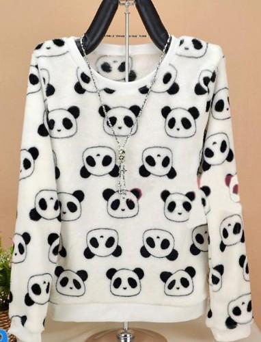 Brand Harajuku Cute Panda Harajuku Hoody Sweatshirt For Women Spring Winter High-Hoodies & Sweatshirts-Shop2822087 Store-zf04-S-EpicWorldStore.com