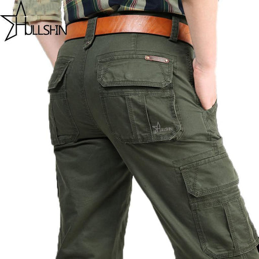 Brand Mens Military Cargo Pants Multi-Pockets Baggy Men Pants Casual Trousers-Pants-pleased Store-Army Green-30-EpicWorldStore.com