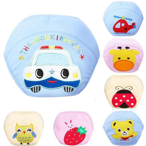 Brand New 7 Kinds Baby/Infant Cotton Waterproof Reusable Nappy Diaper Training Pants Briefs Boy Girl-Baby Care-Sanviky-Airplane-M-EpicWorldStore.com