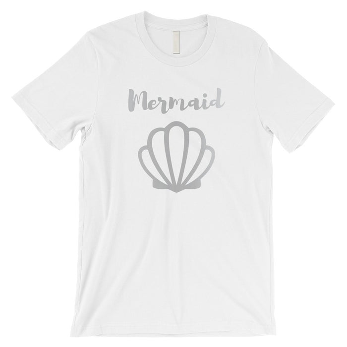 Bride Mermaid Seashell-Silver Mens T-Shirt Splendid Proud Summer-Apparel & Accessories-365 Printing-Black-Mermaid Seashell-SILVER-X-Large-EpicWorldStore.com