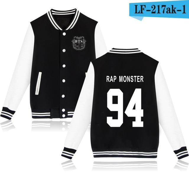 Bts Bangtan Boys Harajuku Hoodies Sweatshirts Women/Men Winter Casual Hoodies Bts Kpop Womens-Hoodies & Sweatshirts-The world's first Store-black 94RAP-XXS-EpicWorldStore.com