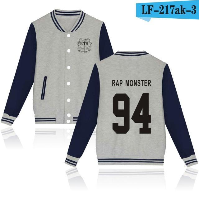 Bts Bangtan Boys Harajuku Hoodies Sweatshirts Women/Men Winter Casual Hoodies Bts Kpop Womens-Hoodies & Sweatshirts-The world's first Store-grey 94RAP-XXS-EpicWorldStore.com