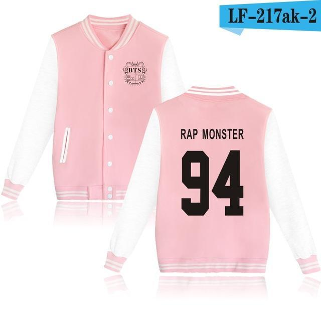 Bts Bangtan Boys Harajuku Hoodies Sweatshirts Women/Men Winter Casual Hoodies Bts Kpop Womens-Hoodies & Sweatshirts-The world's first Store-pink 94RAP-XXS-EpicWorldStore.com
