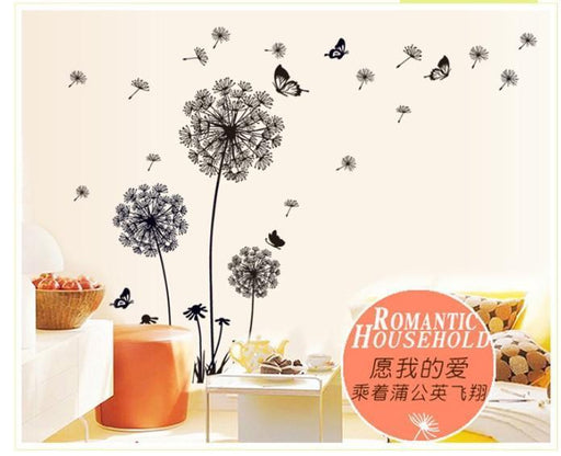 """Butterfly Flying In Dandelion ""Bedroom Stickerspoastoral Style Wall Stickers Original Design-Home Decor-My shop 333 Store-EpicWorldStore.com"