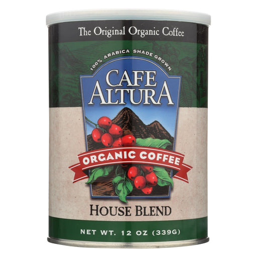 Cafe Altura - Organic Ground Coffee - House Blend - Case Of 6 - 12 Oz.-Eco-Friendly Home & Grocery-Cafe Altura-EpicWorldStore.com