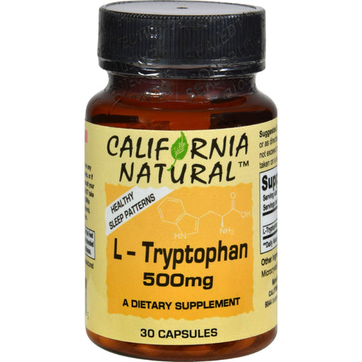 California Natural L-Tryptophan - 500 Mg - 30 Capsules-Eco-Friendly Home & Grocery-California Natural-EpicWorldStore.com