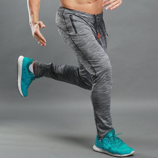 Calofe Summer Fitness Sport Pants Men Elastic Breathable Sweat Pants Grey Running Training Pants-Running-Cyclezone Store-S-EpicWorldStore.com