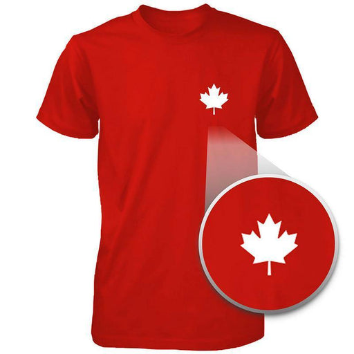 Canada Flag Pocket Printed Red Shirt Cute Mens Round Neck Tee For Canadian-Apparel & Accessories-365 Printing-X-LARGE-EpicWorldStore.com