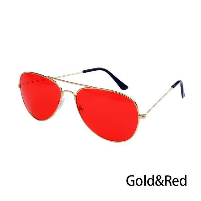 Canchange Polarized Glasses Mens Sunglasses Car Drivers Night Vision Goggles Anti-Glare Sun-Accessories-Voice of dreams Store-Gold W Red-EpicWorldStore.com