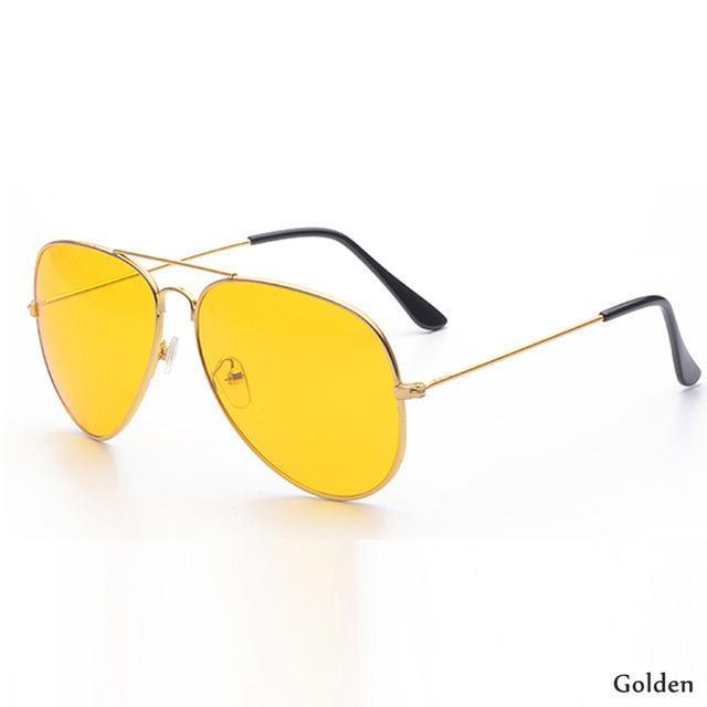 Canchange Polarized Glasses Mens Sunglasses Car Drivers Night Vision Goggles Anti-Glare Sun-Accessories-Voice of dreams Store-Golden W yellow-EpicWorldStore.com