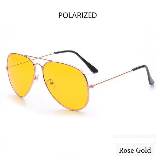 Canchange Polarized Glasses Mens Sunglasses Car Drivers Night Vision Goggles Anti-Glare Sun-Accessories-Voice of dreams Store-rose golden-EpicWorldStore.com