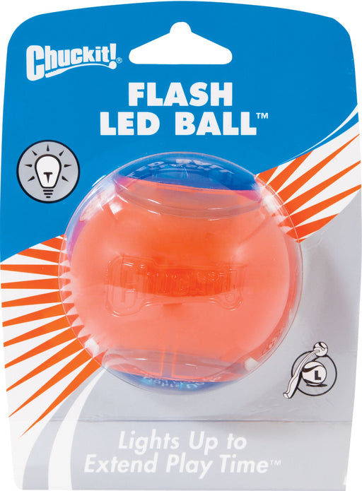 Canine Hardware Inc - Chuckit! Flash Led Ball-Pet-Canine Hardware Inc-BLUE/ORANGE-LARGE-EpicWorldStore.com