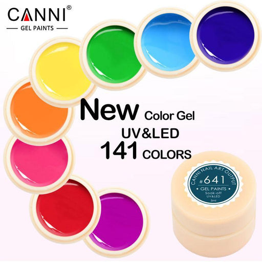 Canni Gel Lacquer 5Ml 141 Pure Colors Uv Gel Manicure Diy French Nail Art Tips Gel Polish Design-Nails & Tools-canni-v6 Store-530 White Color-EpicWorldStore.com