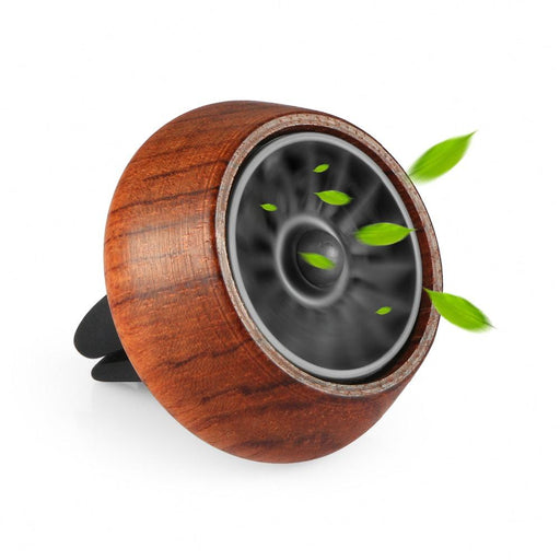 Car Ornament Mini Wood Solid Aroma Diffuser Air Freshener Automobiles Interior Perfume Fragrance-cyberday Official Store-Brown-EpicWorldStore.com