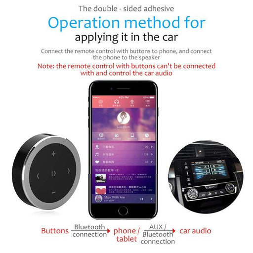 Car Wireless Bluetooth Remote Control Media Button For Multifunctional Steering Wheel Remote-Car Electronics-Hi dear Store-EpicWorldStore.com