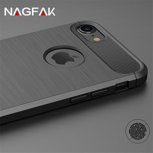 Carbon Fiber Phone Cases For Iphone 6 Case 6S Plus Se 5 5S Cases Soft Anti-Knock Cover For Iphone-Phone Bags & Cases-HATOLY Speciality Store-Black-For iPhone 5-EpicWorldStore.com