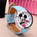 Cartoon Beautiful Girl Minnie Mouse Style Color Number Dial Children Students Girl'S-Lover's Watches-Lydia's Store-blue-EpicWorldStore.com