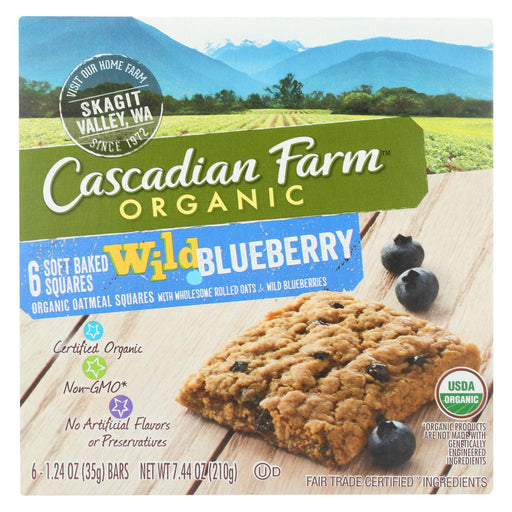Cascadian Farm - Soft Baked Squares - Wild Blueberry - Case Of 8 - 6-1.24Oz.-Eco-Friendly Home & Grocery-Cascadian Farm-EpicWorldStore.com