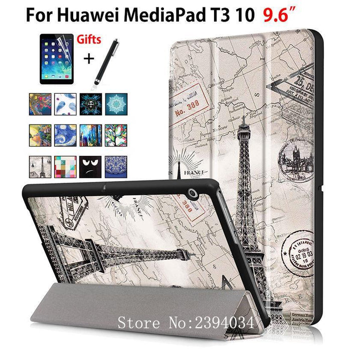 "Case For Huawei Mediapad T3 10 Ags-W09 Ags-L09 Ags-L03 9.6"" Cover Funda Tablet For Honor Play Pad-Tablet Accessories-P Yung Store-D017-EpicWorldStore.com"