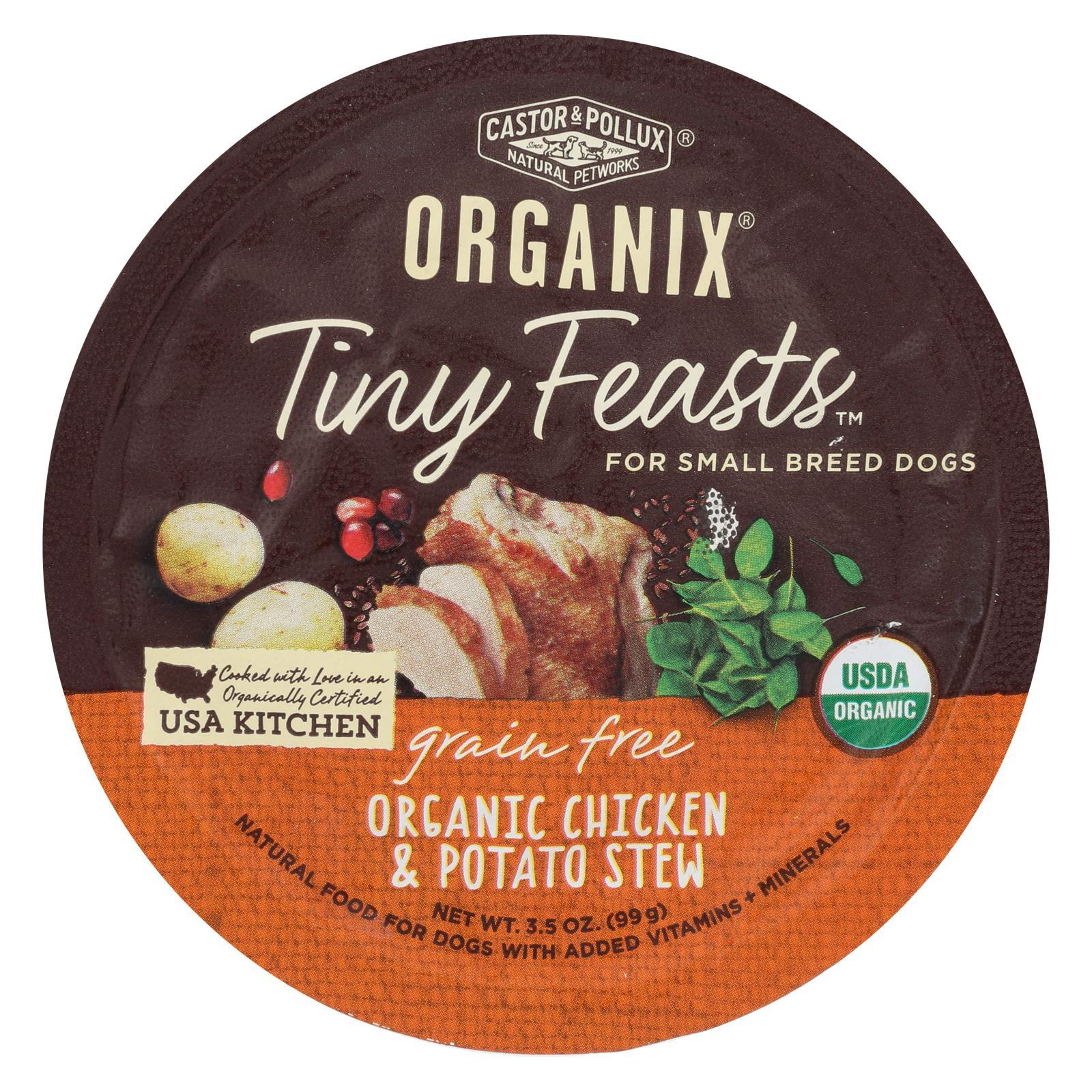 Castor And Pollux Dog Organic Tiny Feasts Chicken Case Of 12 3 5 Oz