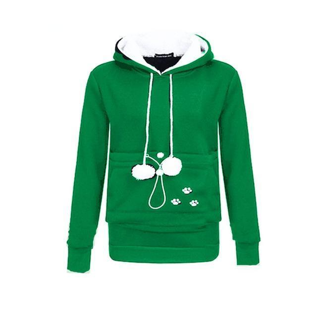 Cat Lovers Hoodie Kangaroo Dog Pet Paw Emboridery Autumn New Pullovers Cuddle Pouch-Hoodies & Sweatshirts-Shop916641 Store-green-S-EpicWorldStore.com