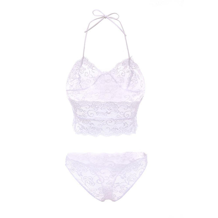 Cdjlfh Brand French Stylish T-Pants Romantic Transparent Temptation Lace Bra Set Young Women-Bra & Brief Sets-CDJLFH Online Store-Black-S 1-EpicWorldStore.com