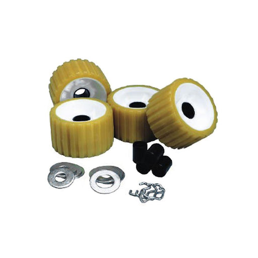 C.E. Smith Ribbed Roller Replacement Kit - 4 Pack - Gold-Marine Products-C.e. Smith-EpicWorldStore.com