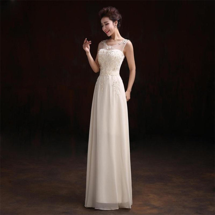 Ceewhy Beading Embroidery Prom Dresses Formal Gowns Wedding Party Dresses  Elegant Long A-Line- fe8b4b02f7e3