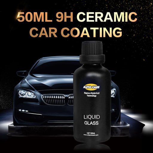 Ceramic Car Coating Liquid Glass 50Ml 9H Hardness Car Polish Motorcycle Paint Care Nano-Car Wash & Maintenance-AUTO CARE Global Store-Only liquid-EpicWorldStore.com