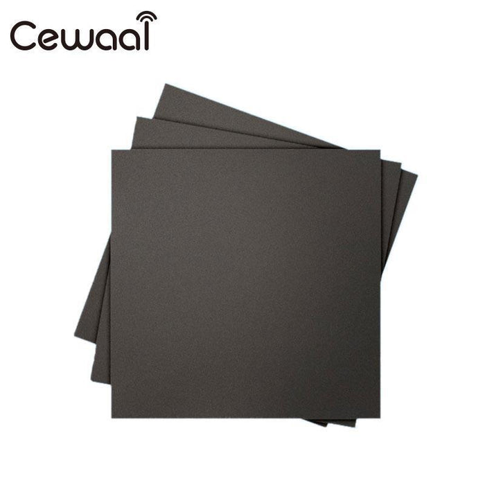 Cewaal Black Frosted Heated Bed Sticker Build Sheet High Temperature  Resistance 3D Printer Sticker Office