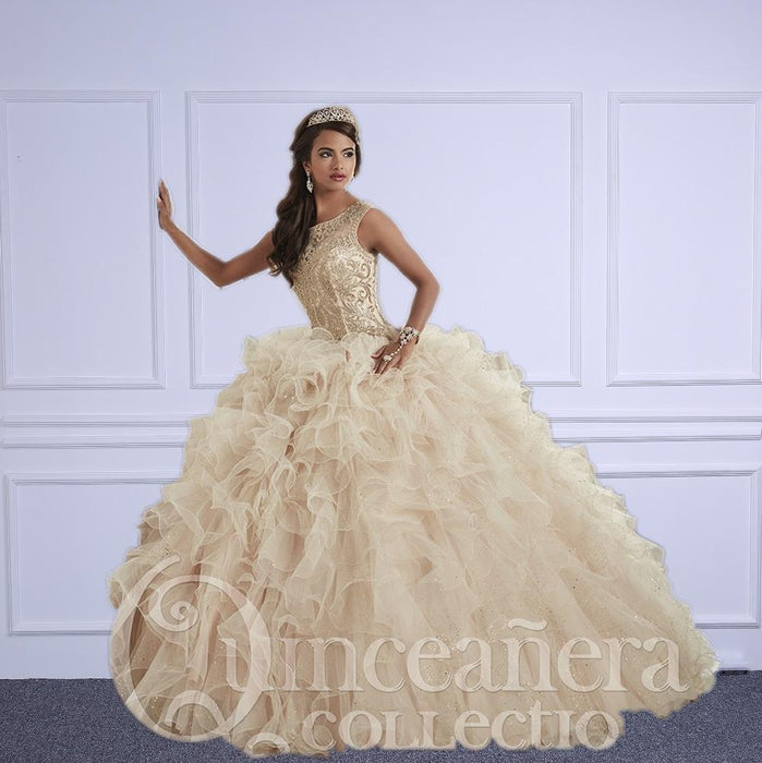 f00abd8f4a3 Champagne Quinceanera Dresses Ball Gowns Sweetheart Beaded Crystal  Embroidery Sweet 16 Dress-Quinceanera Dresses-