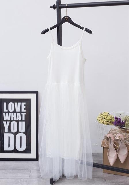 [Chicever] Stylish Off Shoulder Summer Women Dress Female Loose Spaghetti Strap Mesh Ladies-Dresses-CHICEVER Official Store-white-EpicWorldStore.com