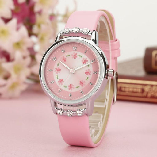 Fashion Children Casual Quartz Watches Colorful Flowers Waterproof Jelly Kids Toys Clock Boys And Girls Students Watch With Traditional Methods Watches