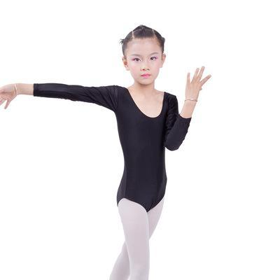 a66dc6a22771 Children Long Sleeved Gymnastics Justaucorps Dance Costumes For Girls  Leotard Ballet Costumes-Stage & Dance