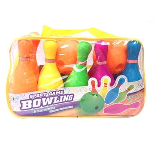 Children Plastic Bowling Set Emulational Sport Toy With Big-Size Handbag Package Gift Children New-Bowling-Live Beautiful-EpicWorldStore.com