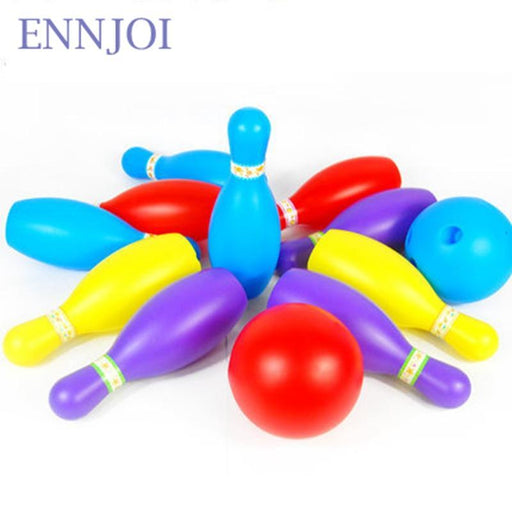 Children Plastic Bowling Toy Bowling Balls Game 8 Pcs Bottles And 2Pcs Bowling Balls Baby-Bowling-Mr Healthy Store-EpicWorldStore.com