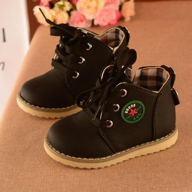bcd997466329c Children Shoes Girls Boys Martin Boots Antislip Soft Bottom Kids Sneakers  Comfortable