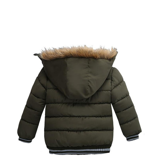 Children Winter Jackets Warm Cotton padded Coats Boys Hooded Warm Boys Outerwear-Down & Parkas-PERPEA Online Store-Black-3T-EpicWorldStore.com