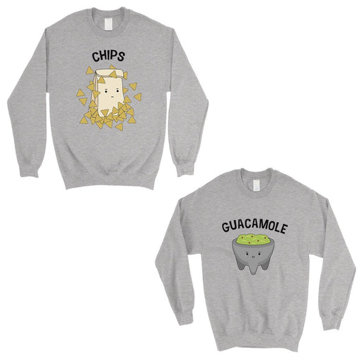Chips & Guacamole Matching Sweatshirt Pullover Cute Couples Gift-Apparel & Accessories-365 Printing-Heather Grey-X-Small-Small-EpicWorldStore.com