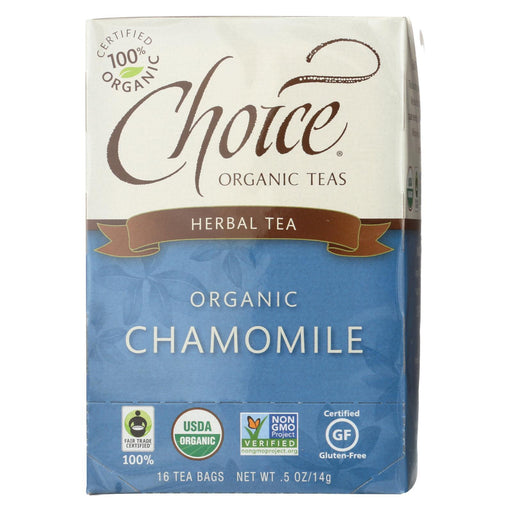 Choice Organic Teas Chamomile Herb Tea - 20 Tea Bags - Case Of 6-Eco-Friendly Home & Grocery-Choice Organic Teas-EpicWorldStore.com