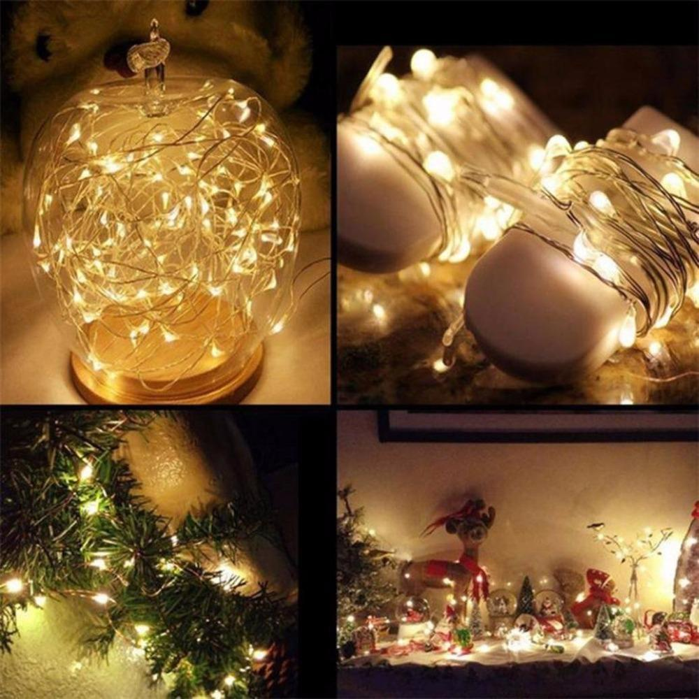 20|40|80 LED String Fairy Lights Multi Color Battery Operated Xmas Wedding Decor